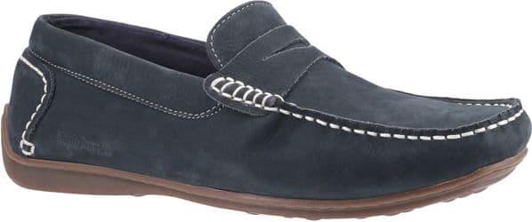 Hush Puppies Roscoe Slip On Mens Shoes Navy